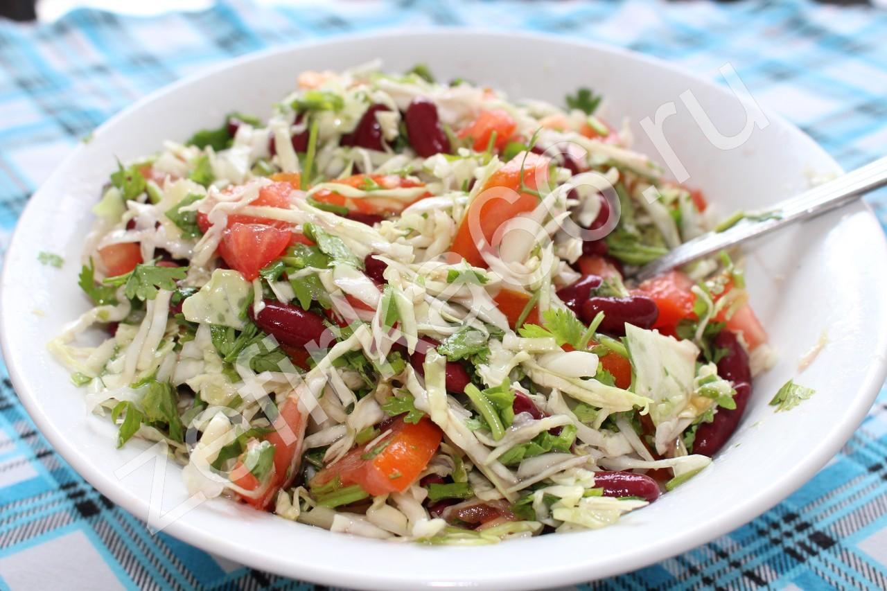 Не калорийные салаты с красной фасолью