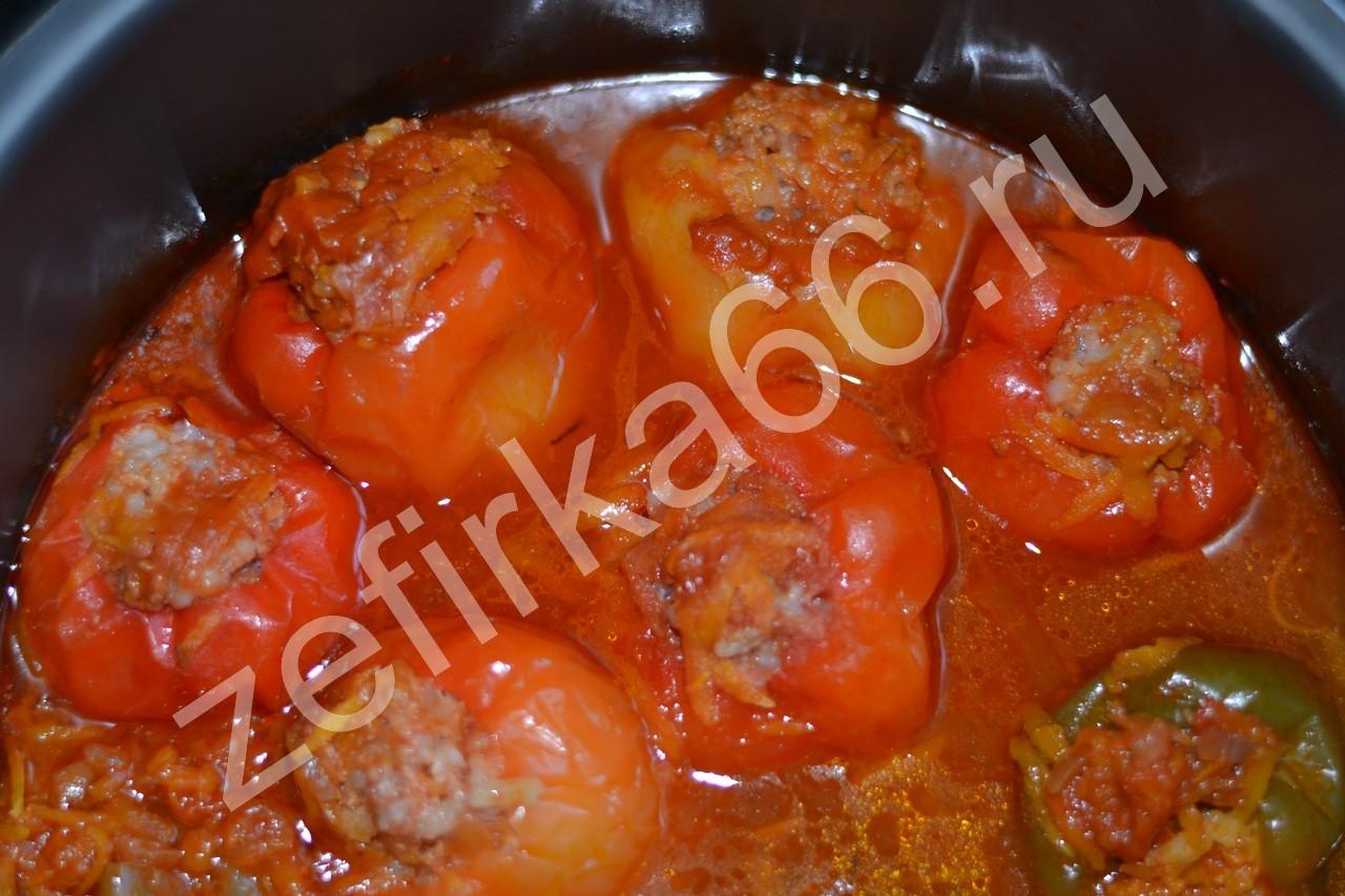 Рецепт фаршированного перца с фаршем и рисом пошагово