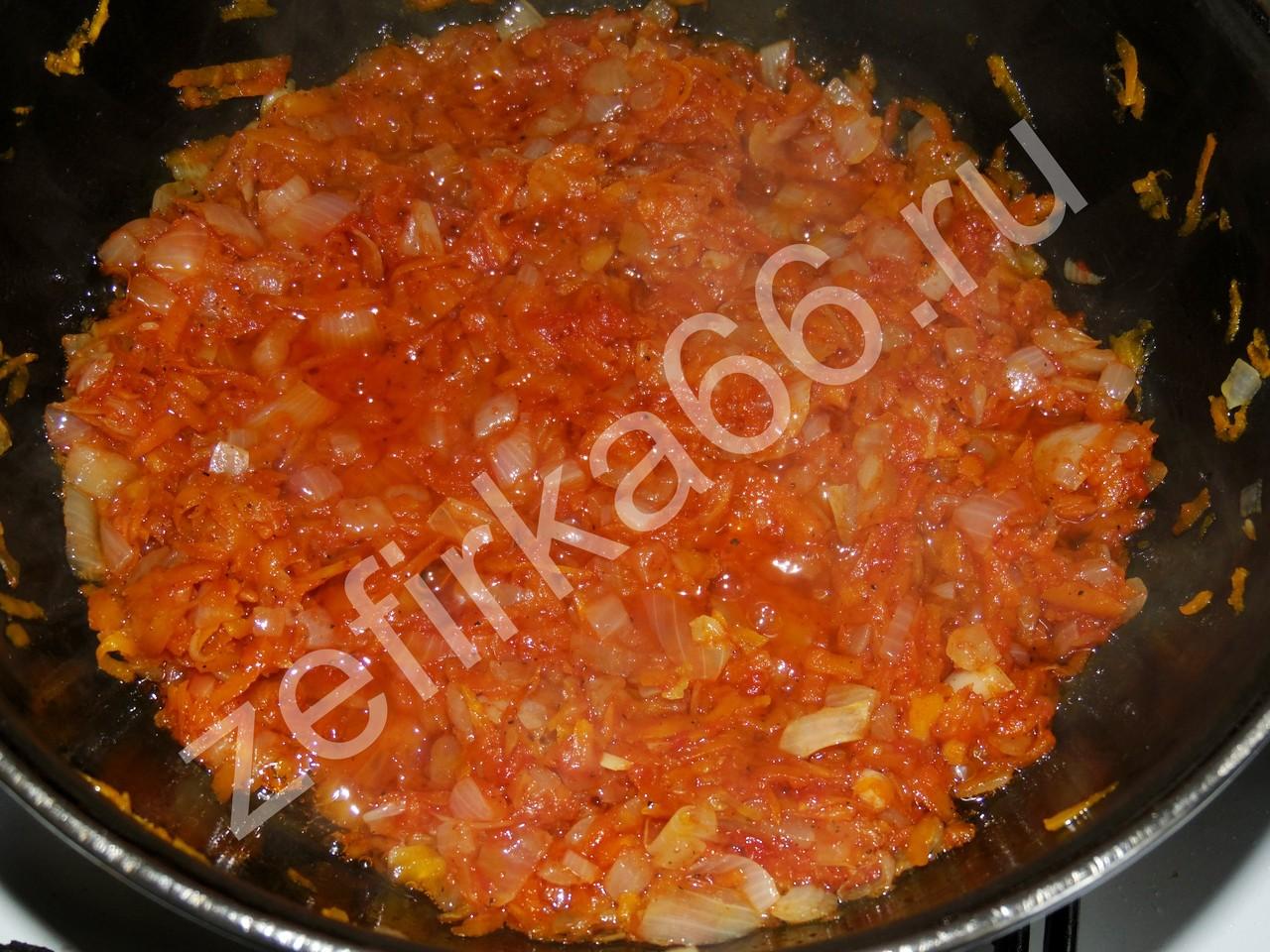 Фаршированный перец в томатном соусе, подробный рецепт