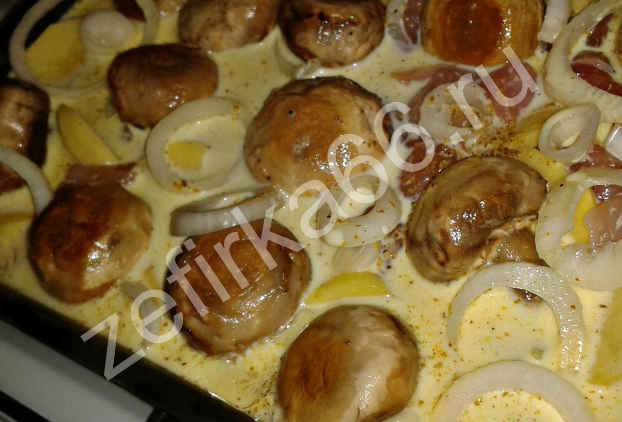 грибы с картошкой и курицей рецепт
