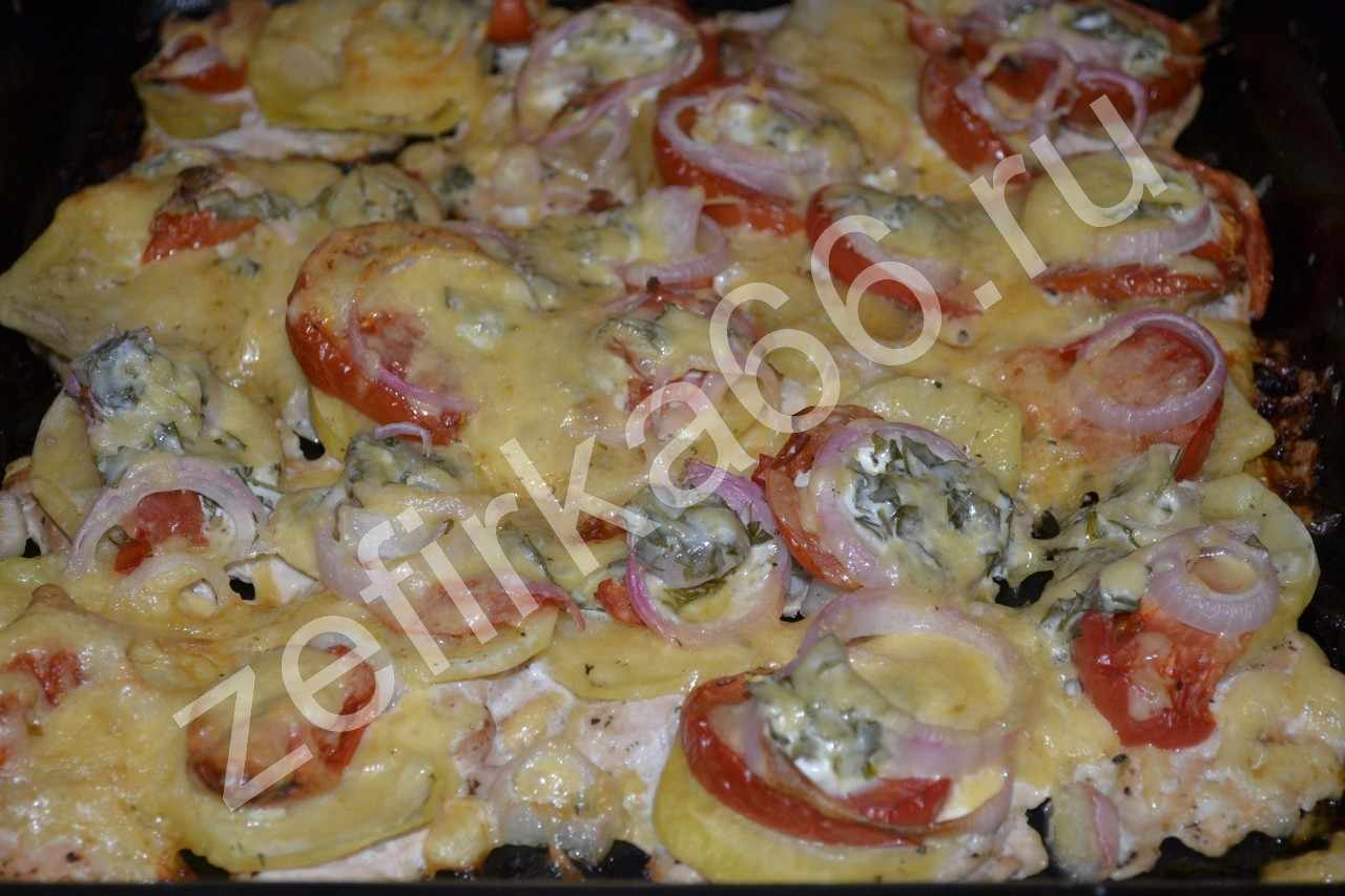 Мясо по-французски с и помидорами в духовке рецепт пошаговый