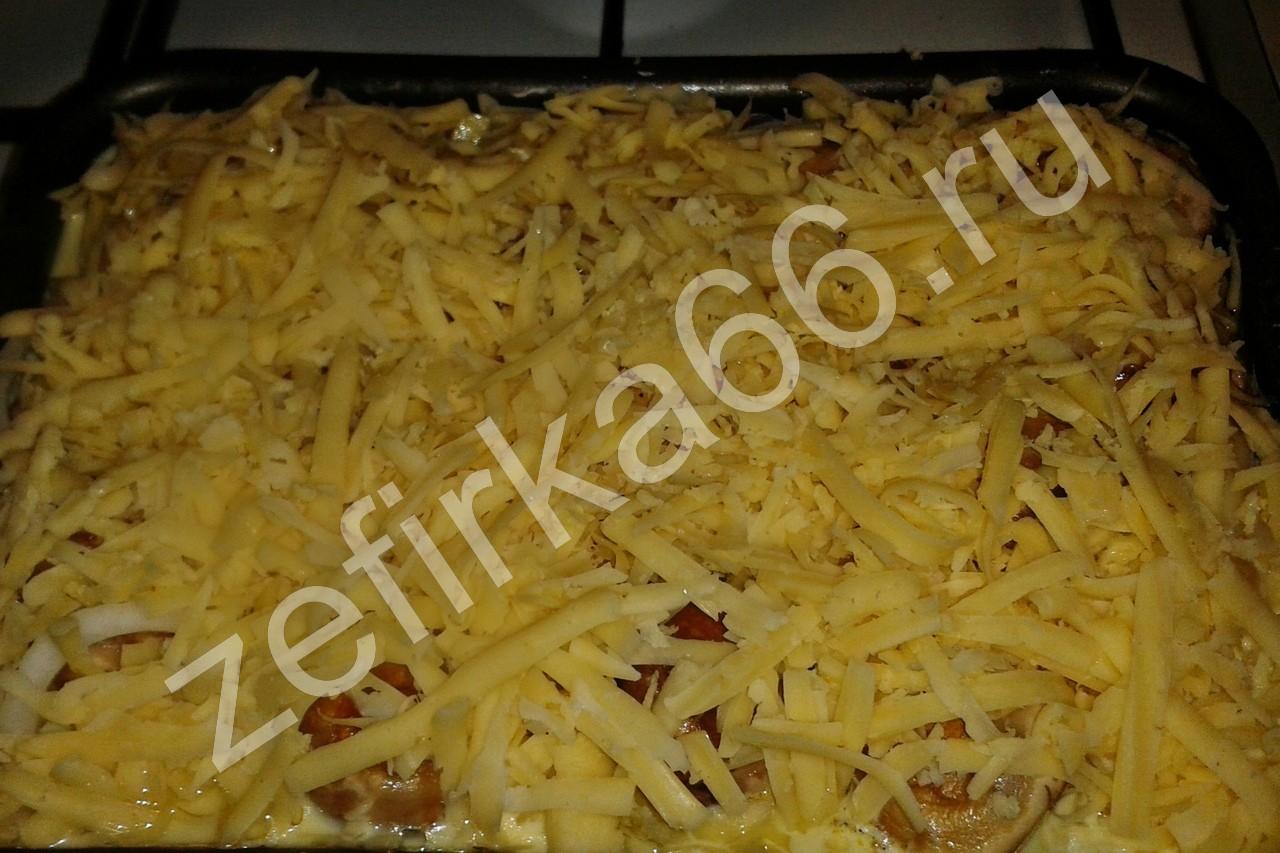 Картошка с курицей и шампиньонами рецепт пошагово