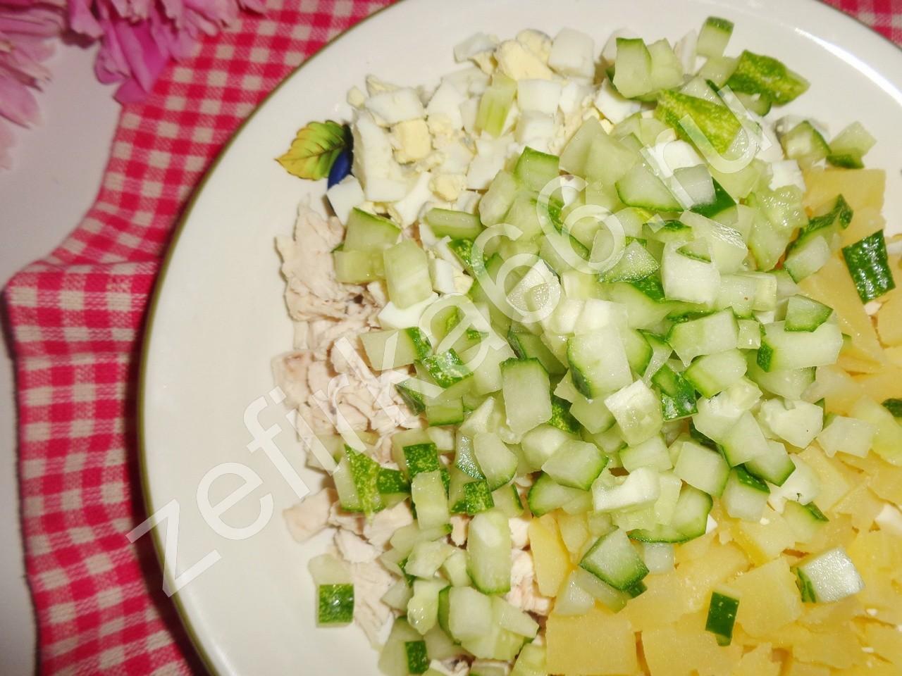 Оливье салат классический рецепт пошагово