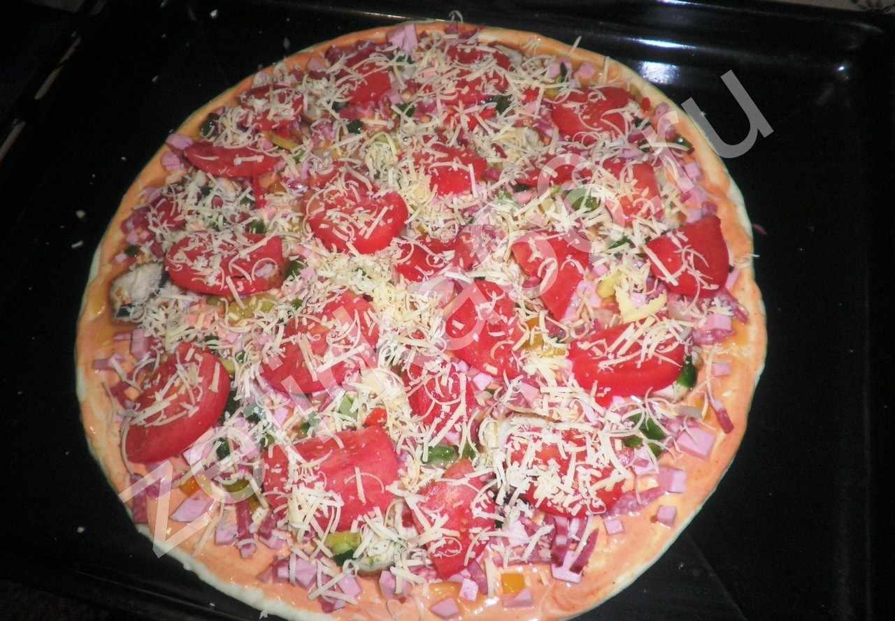 Самая простая пицца рецепт на сковороде