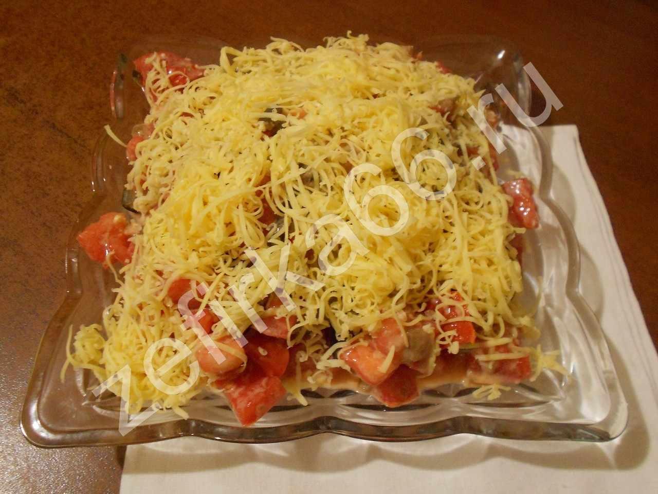 Салат с сыром пармезан