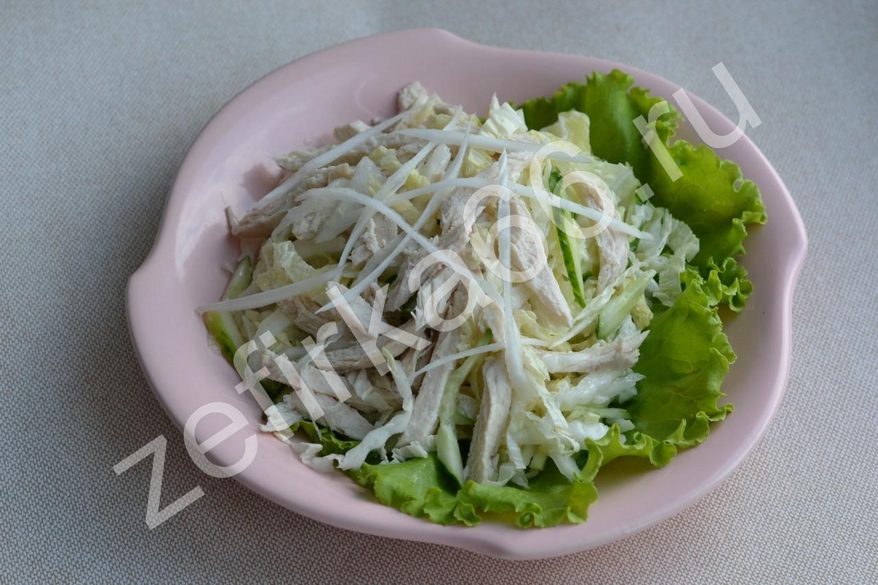 салат и пекинской капусты и куриной грудки рецепт
