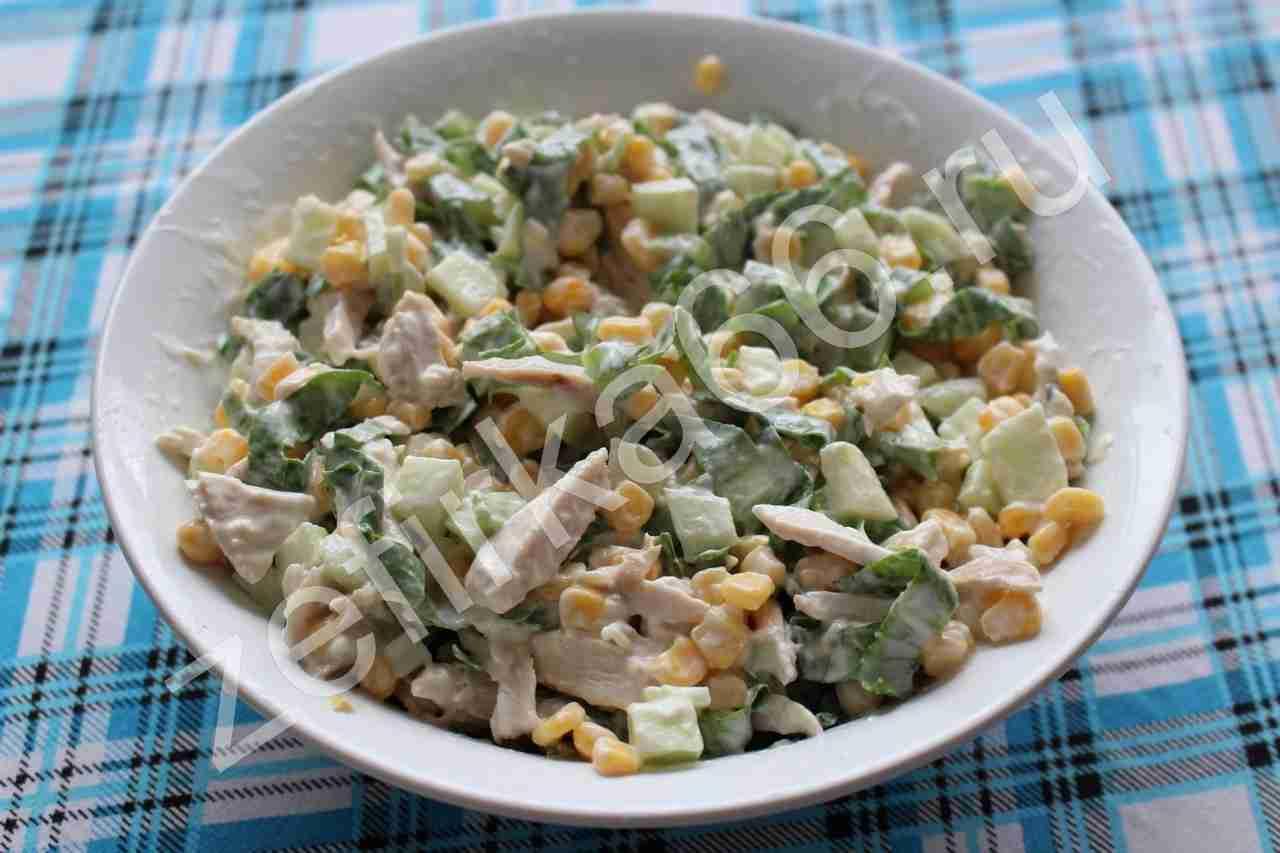 китайская кухня рецепт салат с чипсами