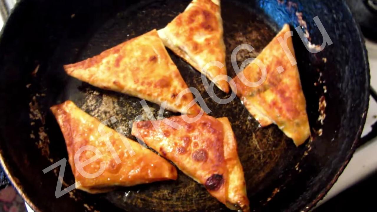 Чебуреки из лаваша с фаршем фото рецепт