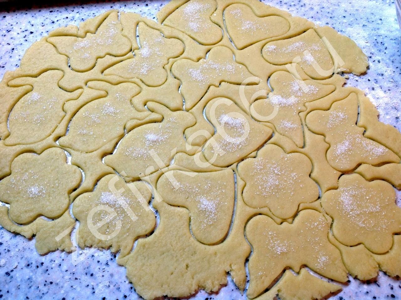 Печенье песочное фигурное рецепт пошагово в